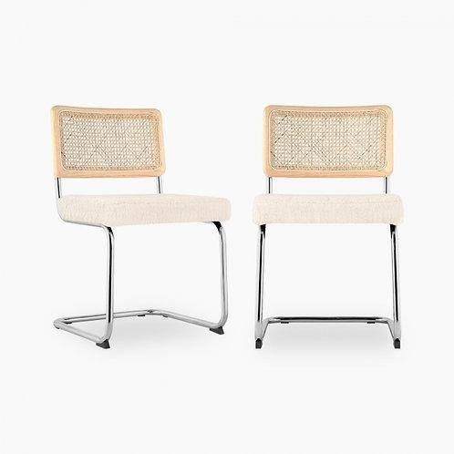 Cane Webbing Boucle Anti-Gravity Chair
