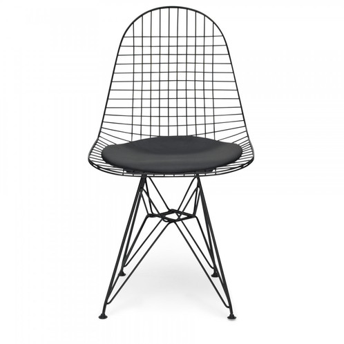 Bon Our Faithful Reproduction Eames Inspired Iconic DKR Chair Is Available In  Classic Black Or Chrome, With Black Or White Faux Leather Seat Pads.