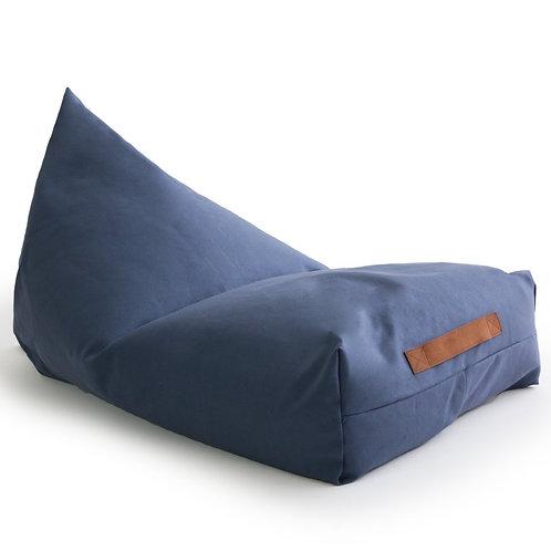 Blue Canvas Comfort Bean bag chair