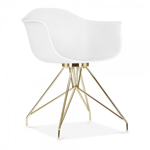 Set x 2, Milano Dining Chair with Gold legs