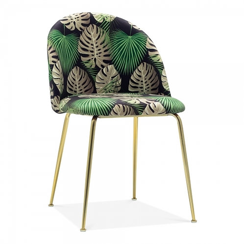 Emerald Green Velvet Millenial Dining Side Chair - Forest Colours+
