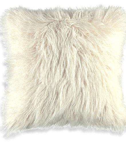 mongolian faux fur cushion