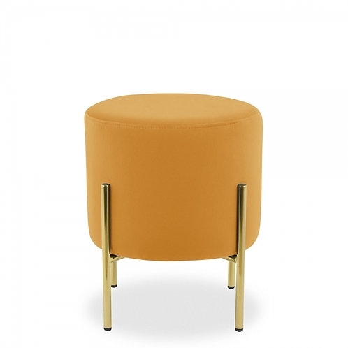 Asha Velvet Stool  - 48cm H - Brass leg - Colours+