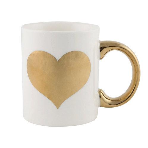 Love Heart Gold Mug