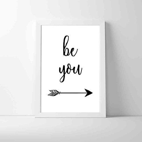 Framed Art Print- Be You Arrow