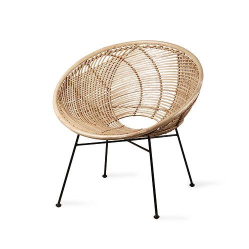 Cane Ball Round Chair - Natural Woven Rattan