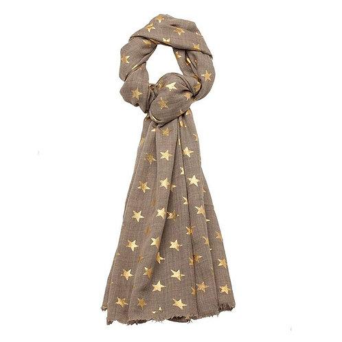 Gold Stars Natural Pashmina - Scarf
