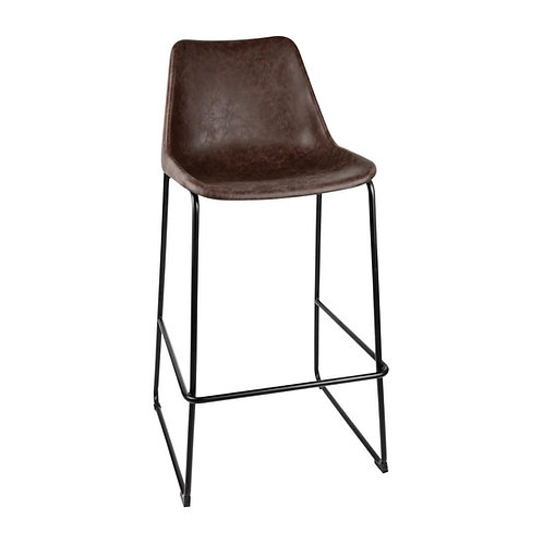 Bobby, Coffee Bar-Stool, Modern Organic, Eco Leather High Stool