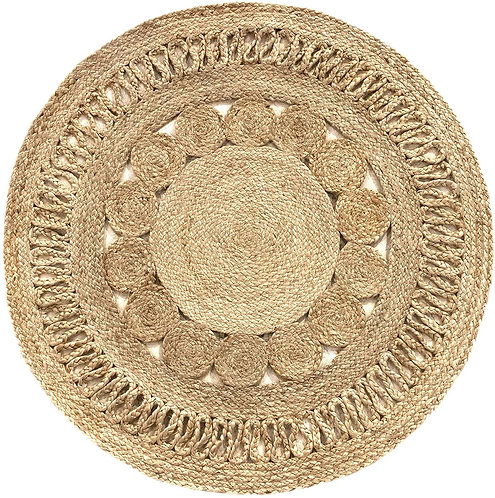 Braided Jute Circular Rug
