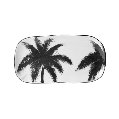 Palm Tree Ceramic Serving Tray