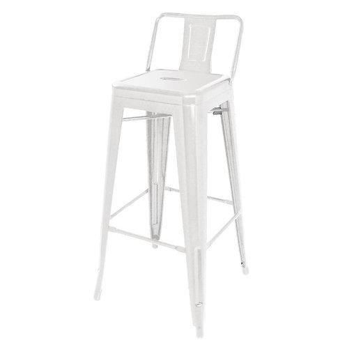 Set 4 - White Industrial Bar Stool