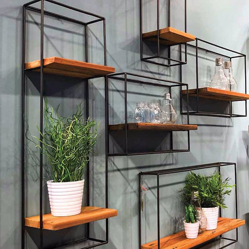 Metal Framed Shelving, Set of 5