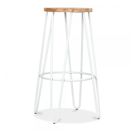 White Hairpin Stool - 76cm H, Teal, Black, Copper, Brass