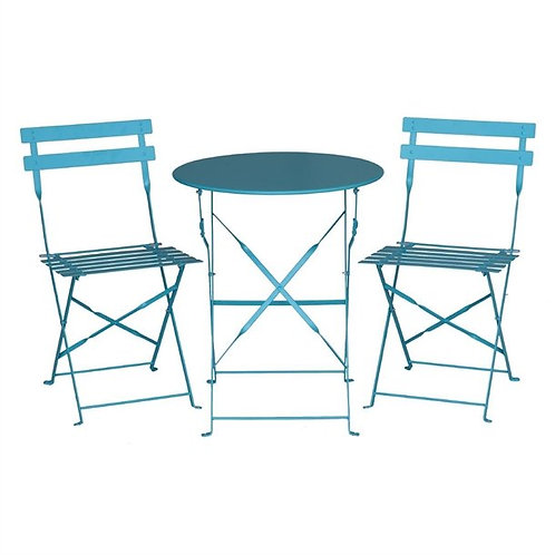 Patio Set Round Table 2 Chairs, Colours+6