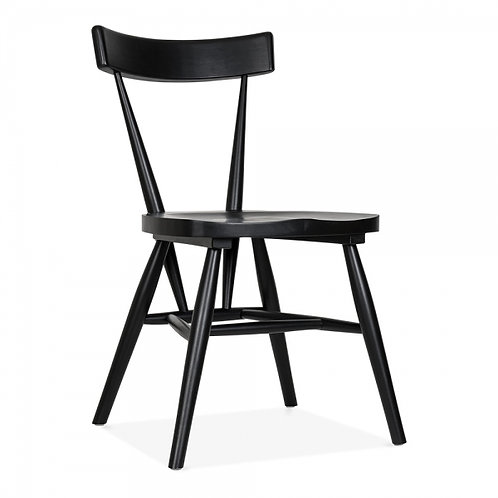 Zen - Birch wood stackable chair - Black