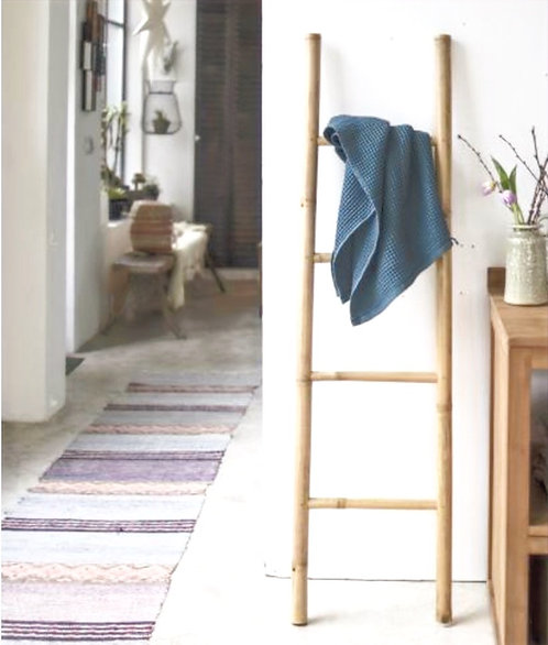 Bamboo Linen Ladder Rack