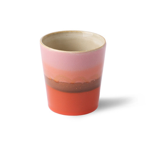 Pink Ceramic Striped Mug - Mars