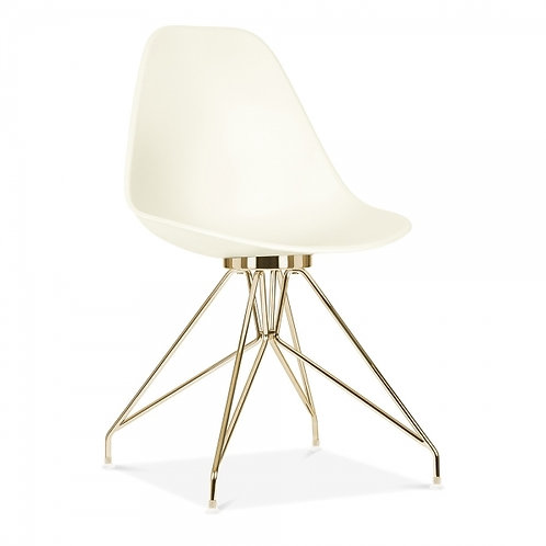 Set x 2 Milano Dining Side Chair, Gold leg