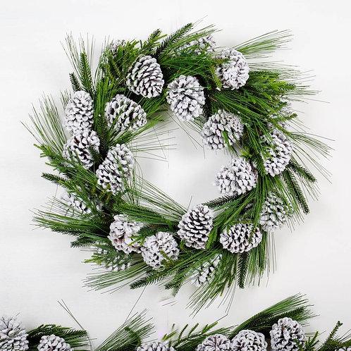 Christmas Garlands - 6ft Snowy Pine Cone