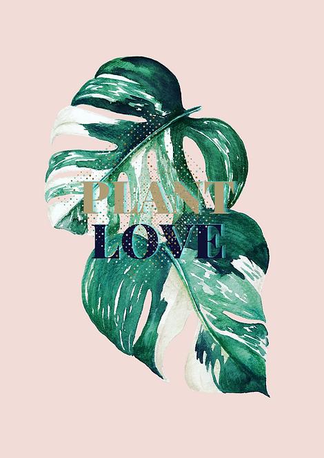 Monstera Plant Love Duo - Urban Jungle Art Print
