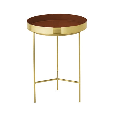 Terracotta Gold Small Side Table