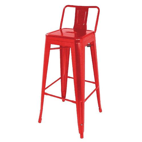 Set 4 - Red Industrial Bar Stool