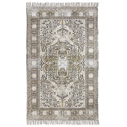 Dusty White Ottoman Style Print Rug 120 x 180