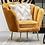 Thumbnail: Mustard Velvet Fantail Bedroom Chair