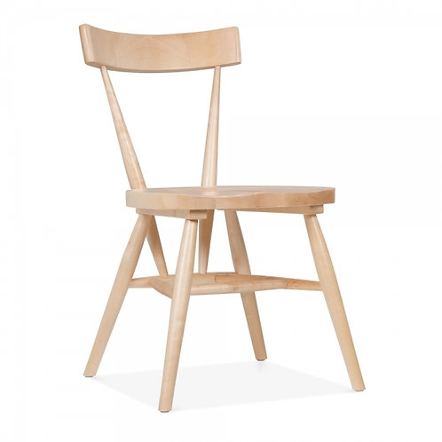 Zen - Birch wood stackable dining chair - Natural