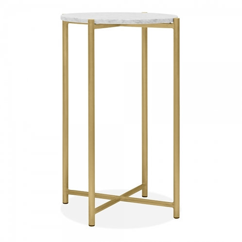 White Marble Side Table - Colours+
