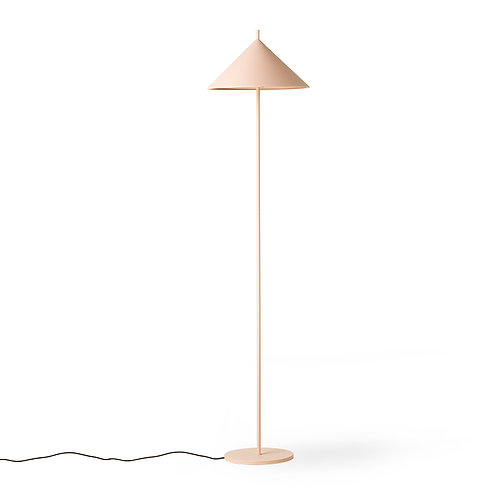 Triangle Metal Floor Lamp in matt pink