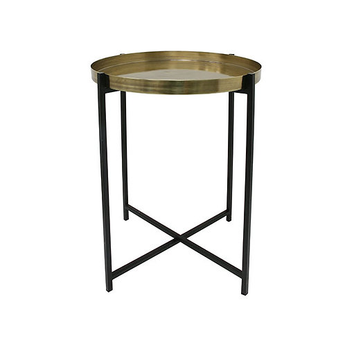 Brass Tray Table - Folding Side Table -
