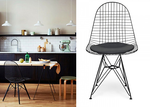 chair metal eames style dkr wire mesh chair
