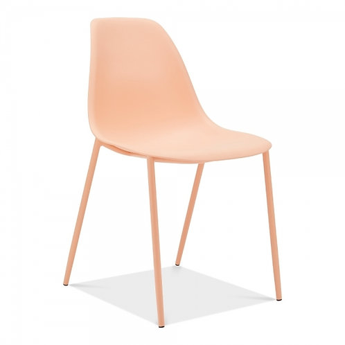 Becca Modern Desk or Dining Side Chair - Peach