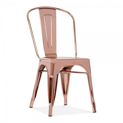 Industrial style metal dining side chair