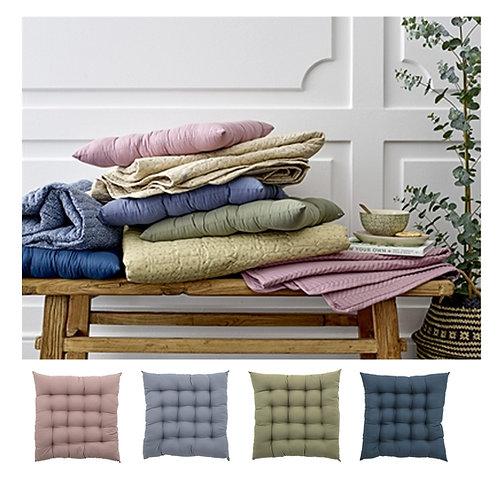 Padded Seat Cushion - Rose - Leaf- Navy - Denim