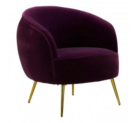 Juniper - Amythyst Art Deco Velvet Accent Chair