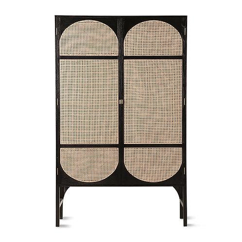 Black Kimono Style Clothing Cabinet - (Wardrobe)