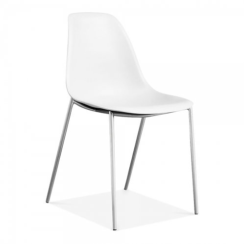 Becca Modern Desk or Dining Side Chair - White