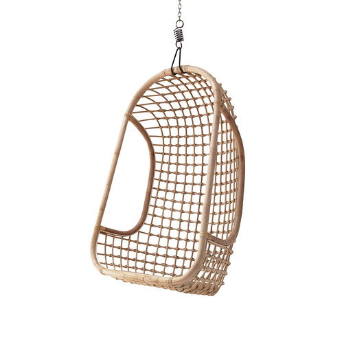 Rattan Hanging Basket Chair - Monochrome