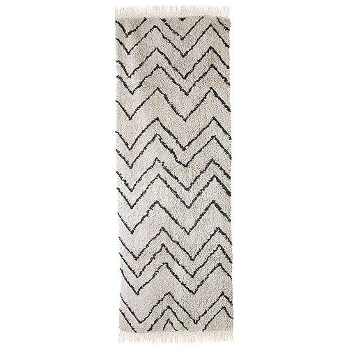 Cotton Berber Style Black White Rug