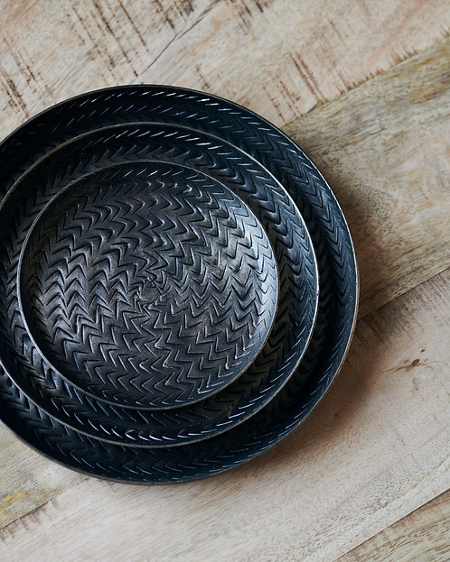 Antiqued Rattan Brass Finish Accessories Tray