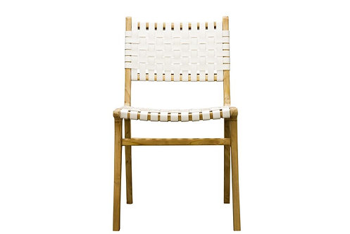 White Lattice Dining Chair