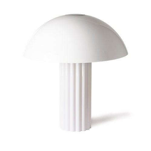 White Cupola Mushroom Lamp