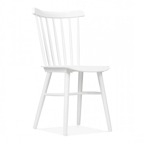 white or black wood dining or kitchen chair | best contemporary