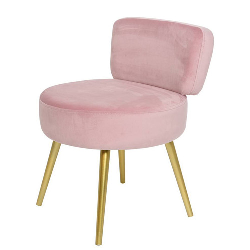Tremendous Pink Velvet Stool With Back Rest Cjindustries Chair Design For Home Cjindustriesco