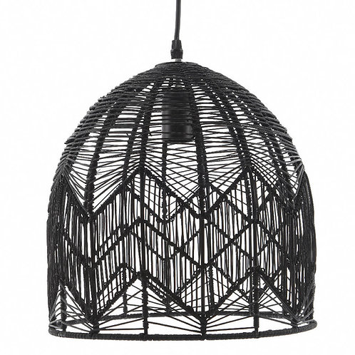 Black Rattan Lampshade - 2 x Sizes