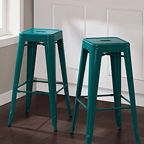 Coloured Industrial Metal Bar Stool, 5+Colours