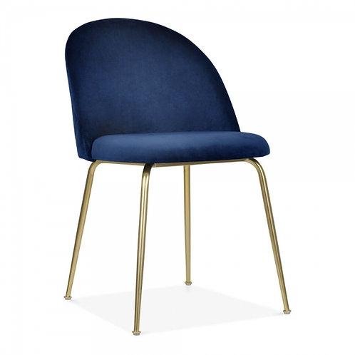 Velvet Dining Side Chair - Blue Colours+