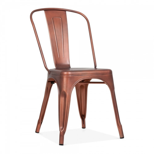 Gold Or Copper Industrial Style Metal Dining Side Chair